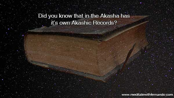 The Akasha has its own Akashic Records.