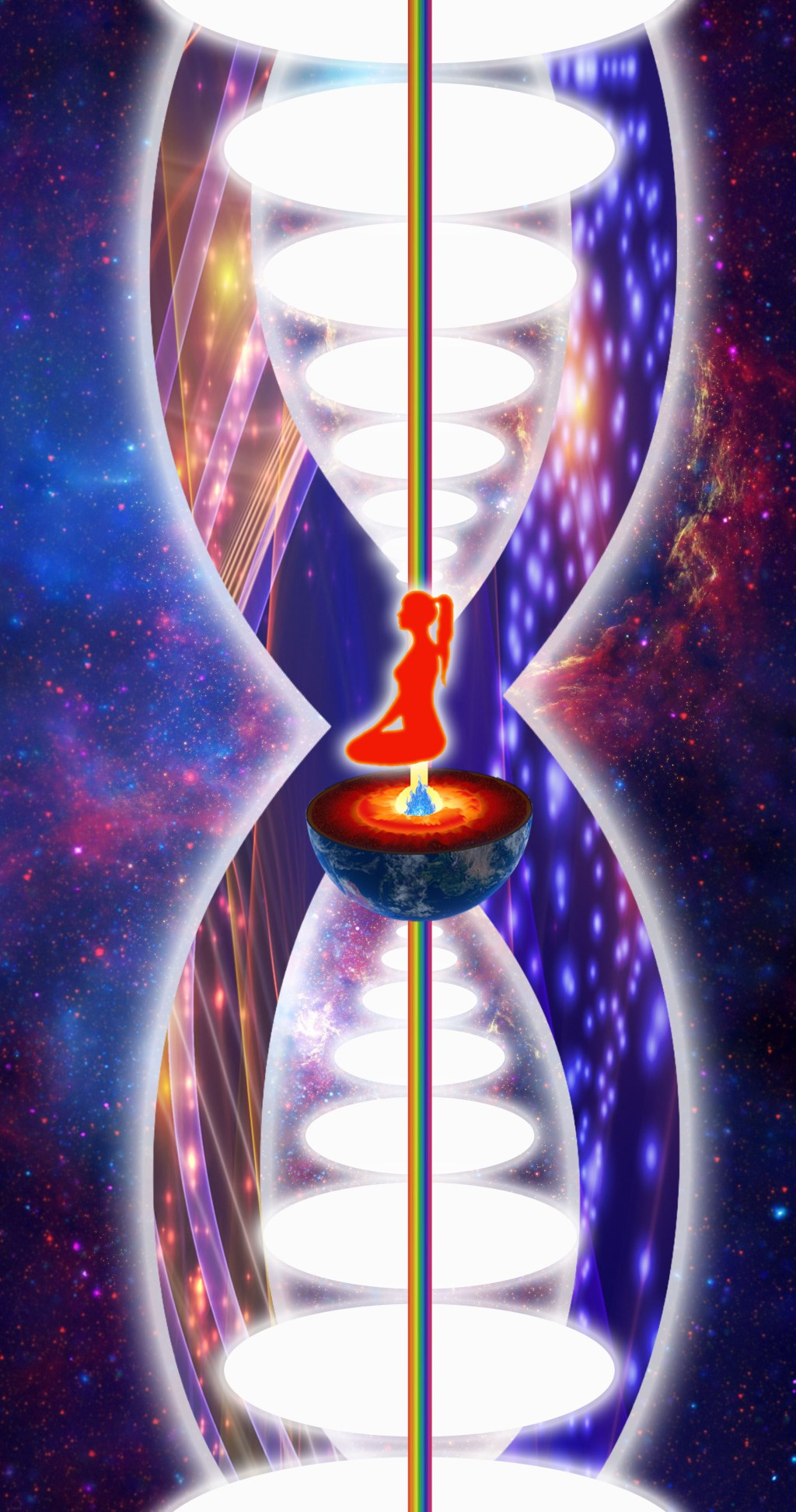 The Infinity of Chakras Above the Head and Below the Base