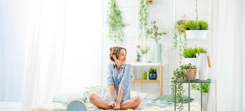 small room divider ideas woman sitting in room with screen wall divider
