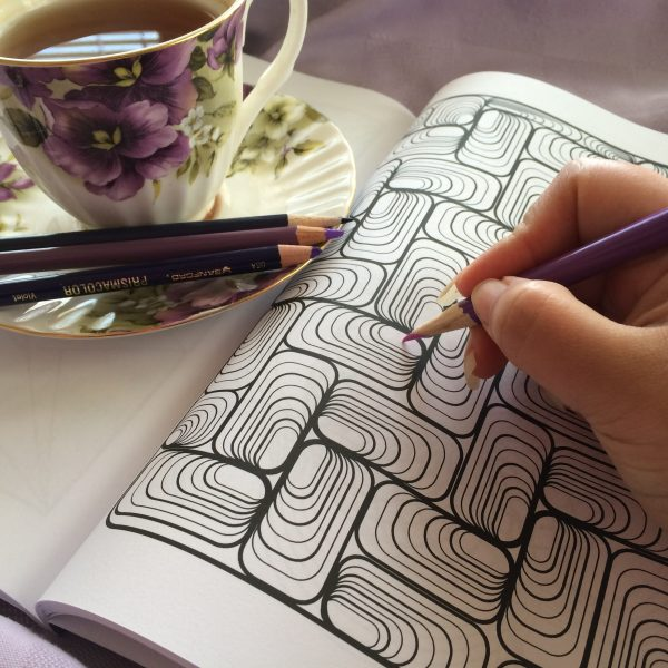 rectangle ovals coloring book page