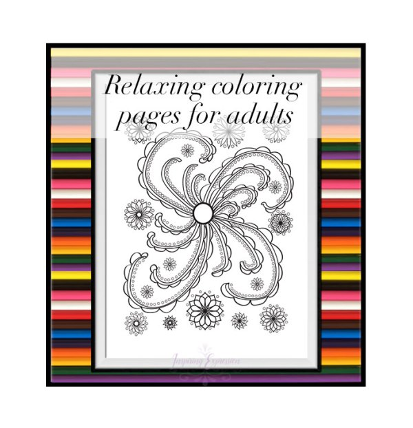 Happy Swirl Coloring Page