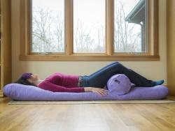 Carolina Morning yoga mat and bolster