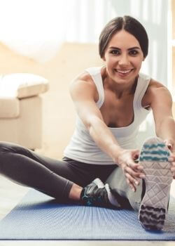 woman exercising to improve her life