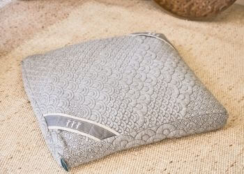 crystal cove square meditation pillow