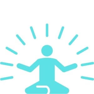 relaxing and meditation icon