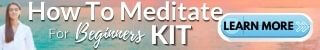 how to meditate for beginners banner