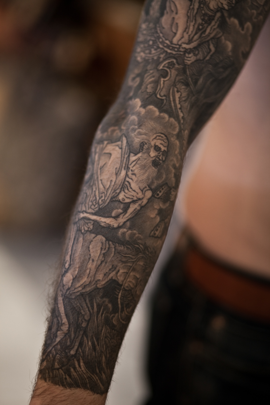 4 Horsemen Tattoo : horsemen, tattoo, Horsemen, Apocalypse, Sleeve, Tattoo, Thomas, Hooper, NYC-6, Hoopers, Electric