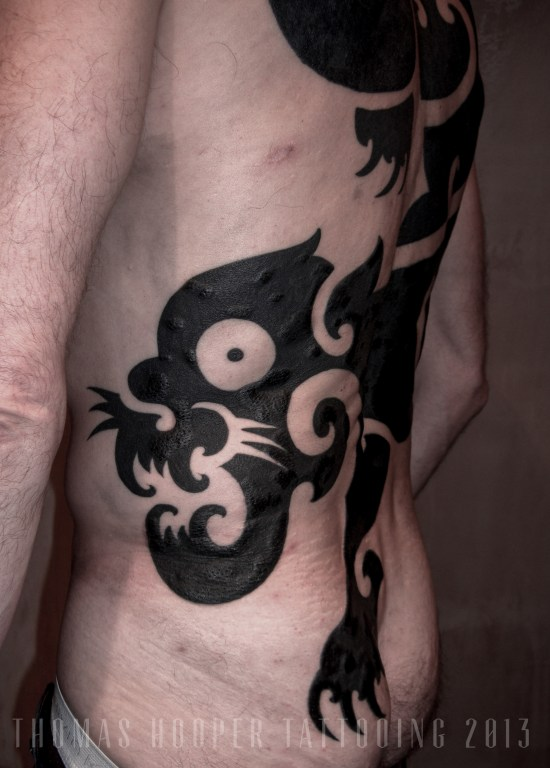 Thomas Hooper Tattooing Borneo Panther Back Piece 2006_1