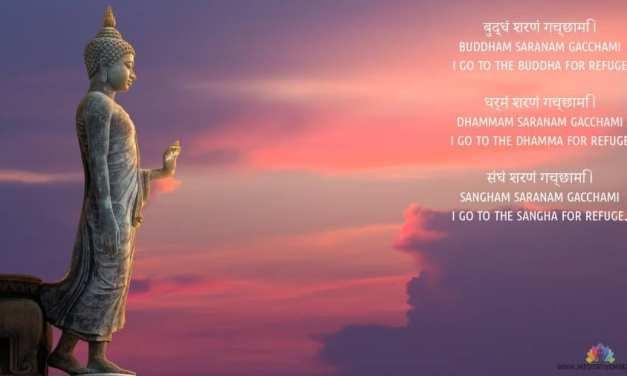 Buddham Sharanam Gacchami Mantra Wallpaper and Meaning