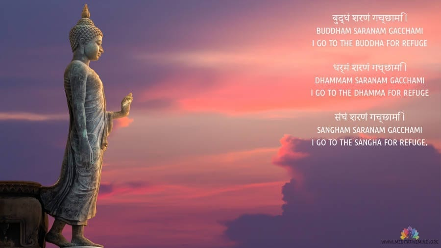 Buddham Sharanam Gacchami Mantra Wallpaper and Meaning