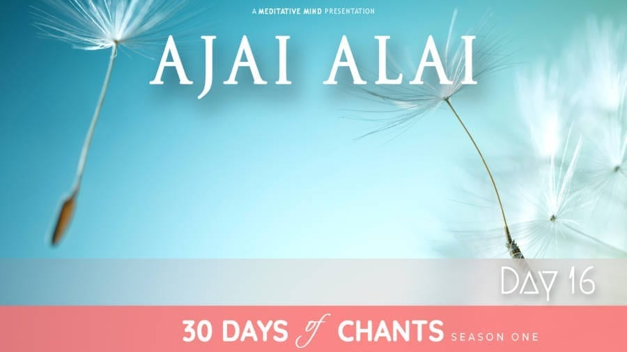 Day 16   AJAI ALAI – Power Mantra
