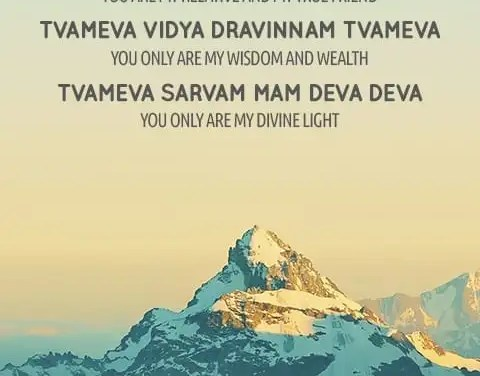 Tvameva Mata – Mantra Meaning, Chanting and HD Wallpaper Download