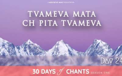 Day 24  | TVAMEVA MATA CH PITA TVAMEVA – Mantra Dedicated to Guru