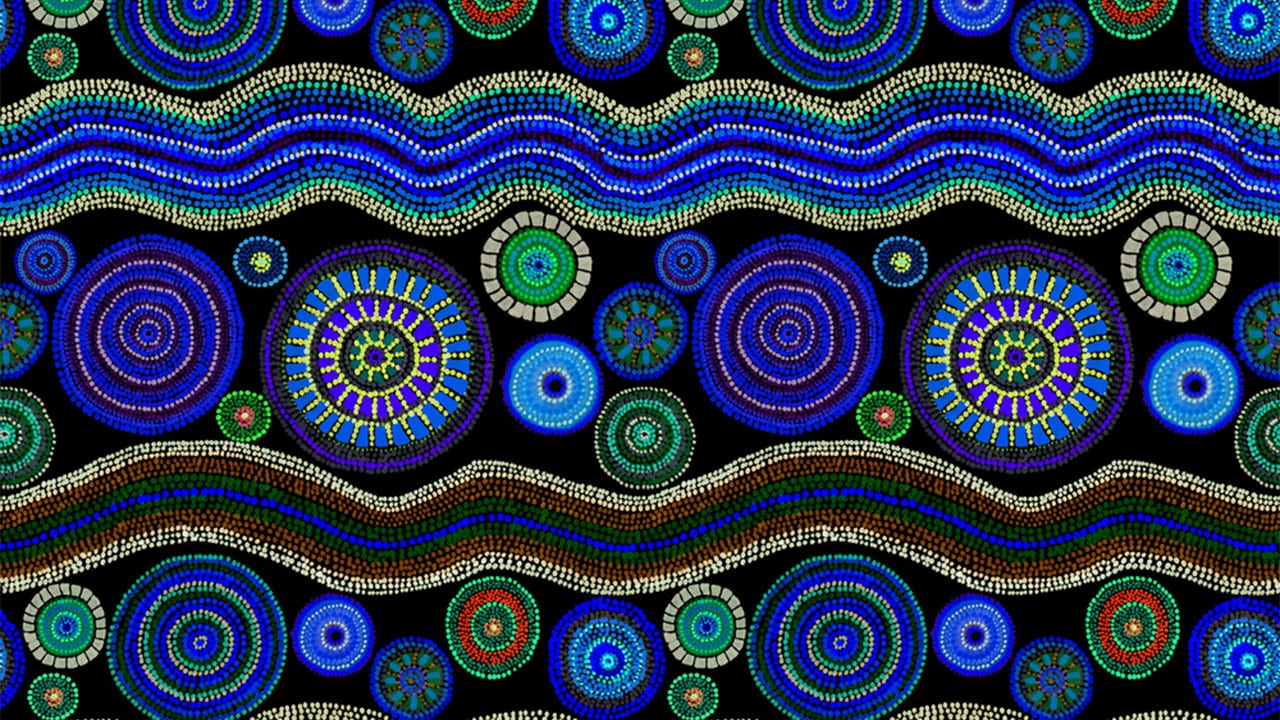 11 Amazingly Beautiful Aboriginal Dot Art Wallpapers + Indigenous Drum Music @432Hz
