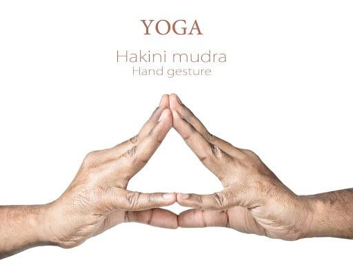 Hakini Mudra for crown chakra