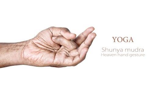 Shunya Mudra for throat chakra