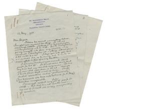 Lettera a R. Unwin circa il parere di Auden