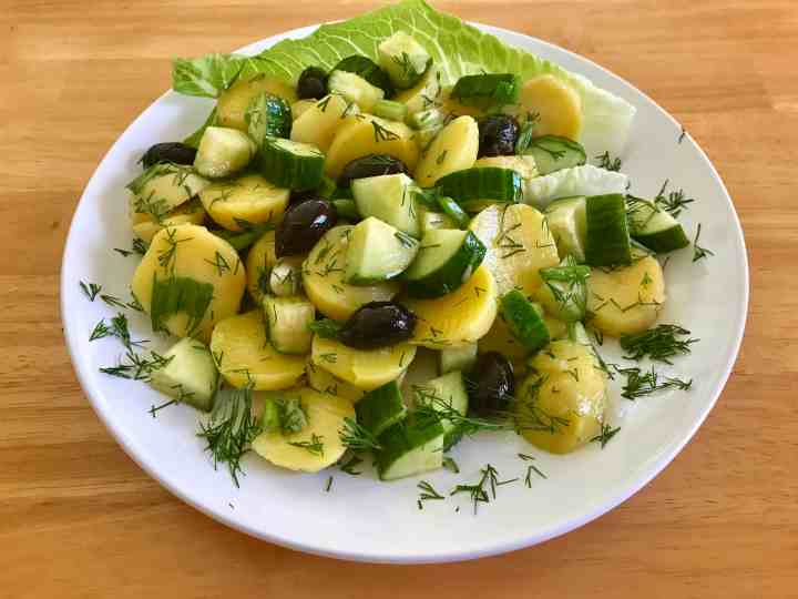 Dill potato salad, typical in most Mediterranean countries. It's served as a side dish to grilled meats
