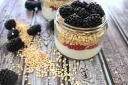 Puffed Qunoa Breakfast Jars