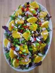Red Quinoa, Orange and Spring Mix Salad