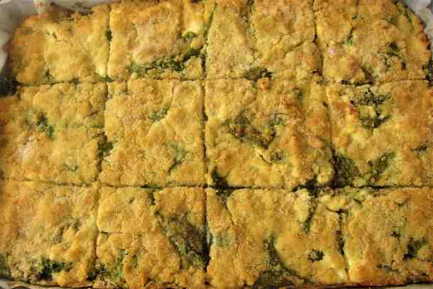 Albanian Shapkat with Spinach - Corn Pie Casserole filled with Spinach, Feta Cheese, Dill