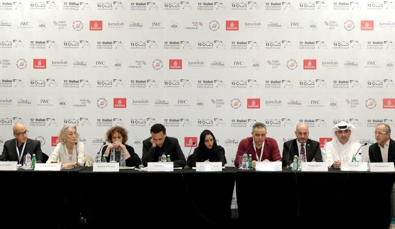 Paul Badoudjian (à droite) et l'équipe fondatrice de l'AFI lors de la conférence de presse donné le 10 décembre au festival de Dubai