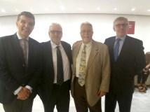 President FCN Sr.Enric Bertran- President del Geieg Sr.Francesc Cayuela -President del CEM Sr.Jaume Roca - Vicepresident FCN Sr. Ramon Bosch
