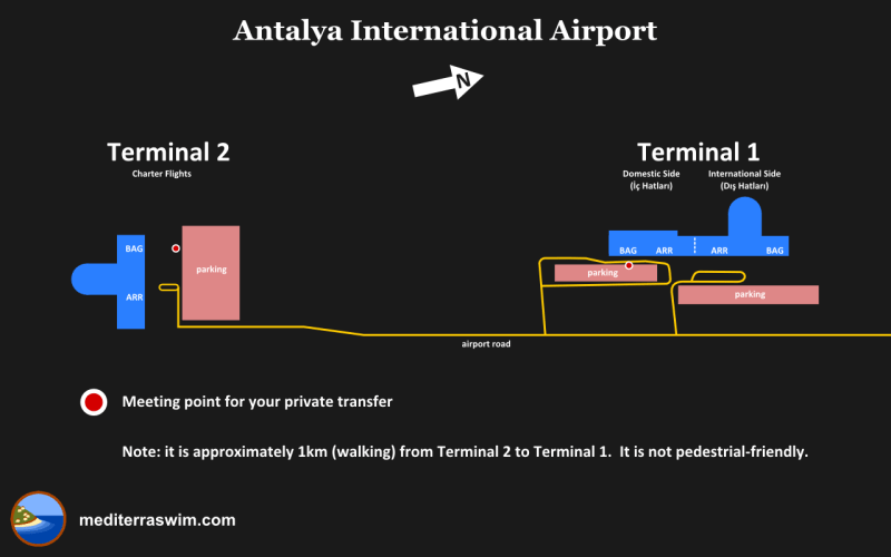 1410 AYT Airport Map