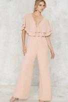 ASOS Ruffle Pink Jumpsuit