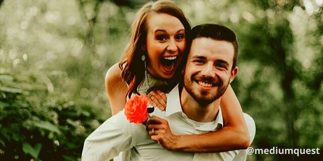 happy couple enjoying