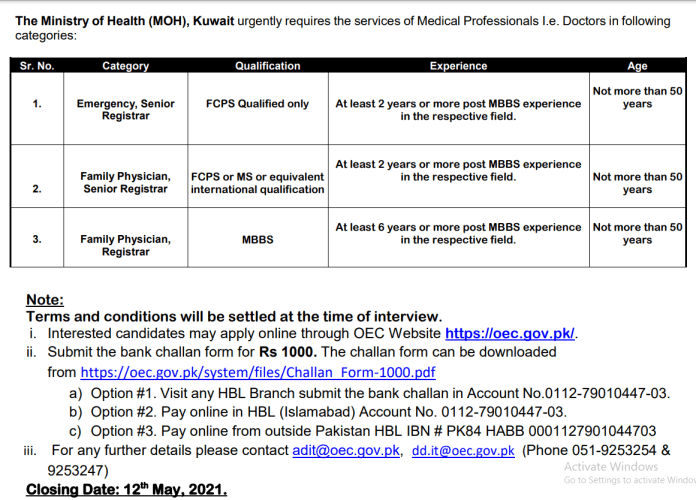 Medical Jobs in Kuwait | Ministry of Health (MOH)