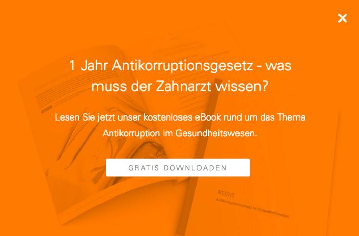 E-Book zum Antikorruptionsgesetz im Gesundheitswesen jetzt online!