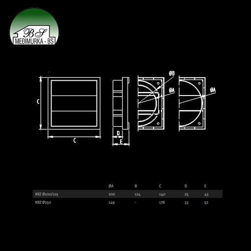 KRZ - ventilacijske rešetke