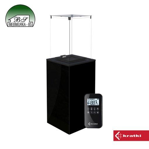 Plinski grijač PATIO MINI crni s daljinskim upravljanjem