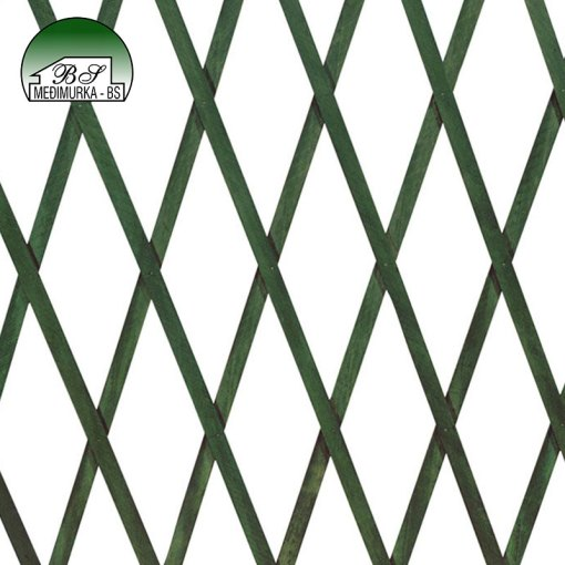 Rešetkasta ograda od drva za biljke penjačice