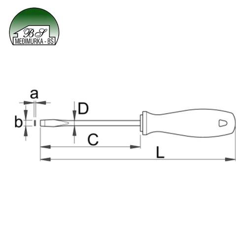 Izvijač CR plosnati - 605CR UNIOR