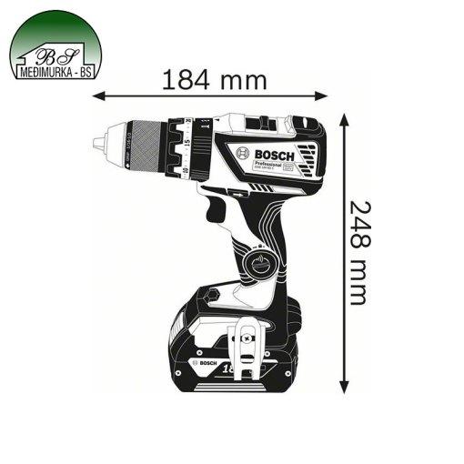 Akumulatorska udarna bušilica-izvijač GSB 18V-60 C Professional BOSCH
