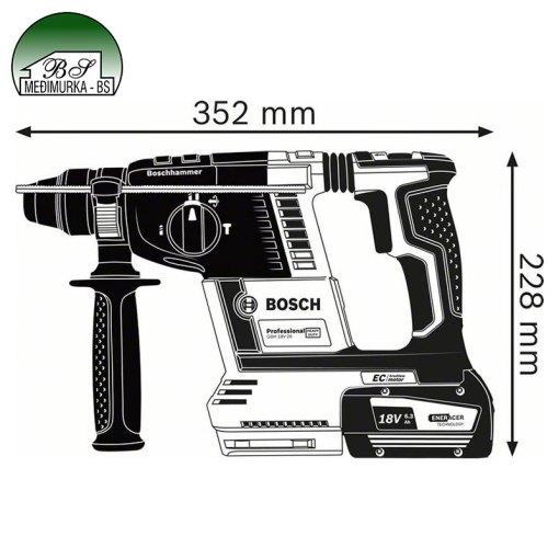 Akumulatorski bušaći čekić SDS plus GBH 18V-26 Professional