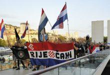 Photo of (VIDEO) Prosvjed protiv postavljanja okupatorske petokrake u Rijeci