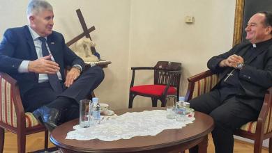 Photo of Susret Čovića i biskupa Palića u Mostaru