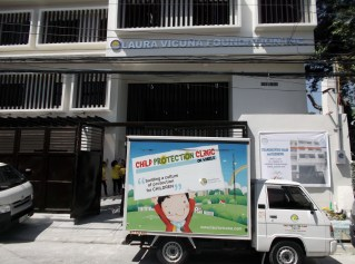 Outside View with Child Protection Clinic Vehicle