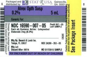 ALREX (STAT Rx USA LLC): FDA Package Insert Page 2