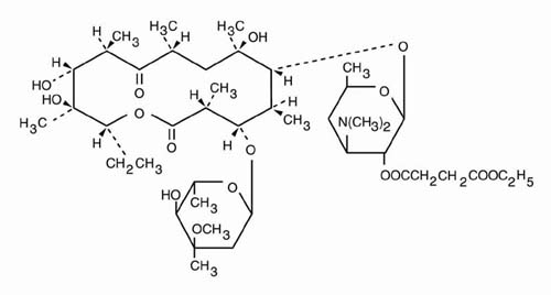 what is a molecular diagram 2009 hyundai accent radio wiring erythromycin ethylsuccinate (physicians total care, inc.): fda package insert