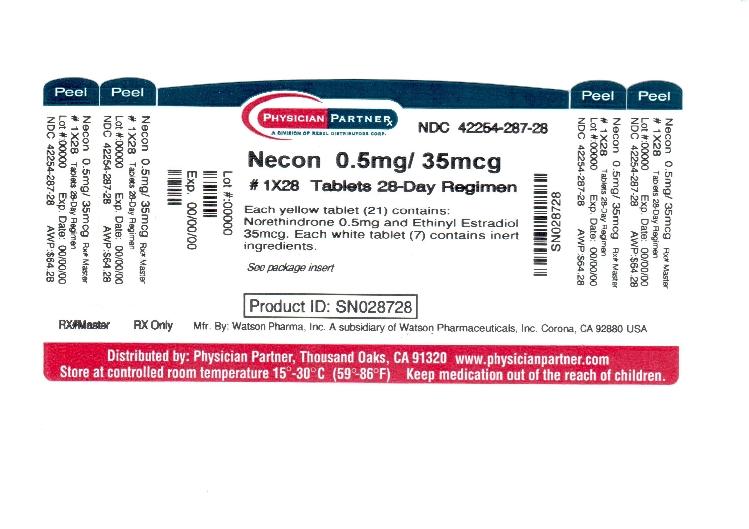 Necon 0.5/35 (Rebel Distributors Corp): FDA Package Insert