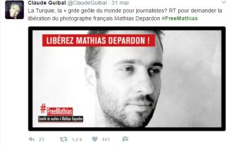Claude Guibal, journaliste à France Inter (Capture d'écran compte Twitter @ClaudeGuibal)