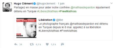 """Hugo Clément, journaliste de l'émission """"Quotidien"""" sur TMC (Capture d'écran compte Twitter @hugoclement)"""