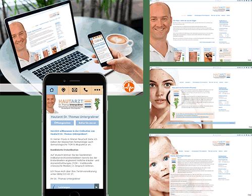 Internetpräsenz Internet Homepage Webpräsenz Arztpraxis Arzt Praxis Ordination