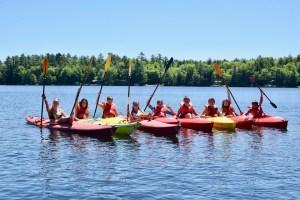 Kayaking campers