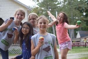 Campers Eating cupcakes