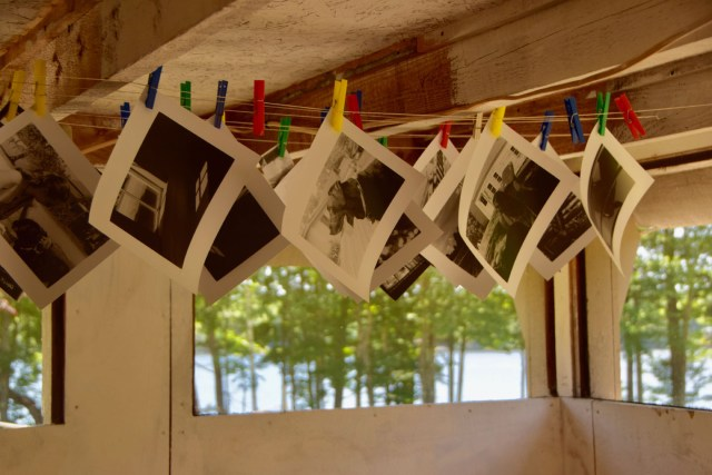 photos drying in the studio